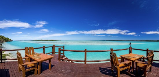 The best views on Aitutaki are at the Flying Boat Beach Bar & Grill.