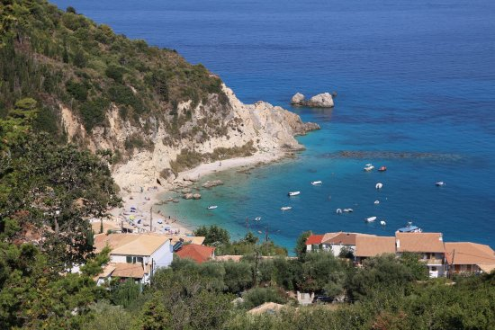 Myrto Vacation Relaxing Homes: Agios Nikitas. View from the hotel.