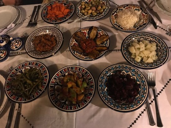 Riad Dar Tafilalet: Comida
