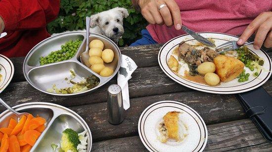 Llanuwchllyn, UK: Perfectly cooked veg