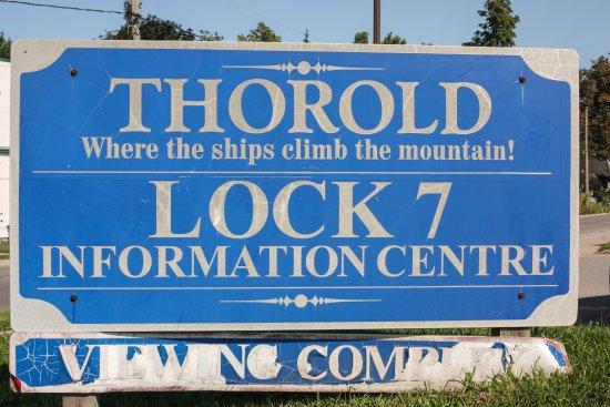 Thorold, Καναδάς: Hinweisschild