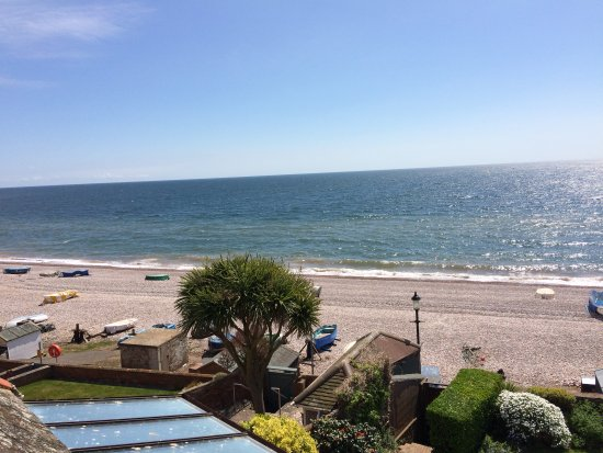 Budleigh Salterton, UK: Beach and sea views from the Lighthouse balcony