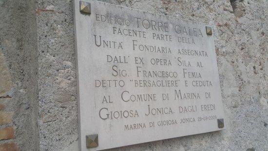 Marina di Gioiosa Ionica, Italie : Torre Galea