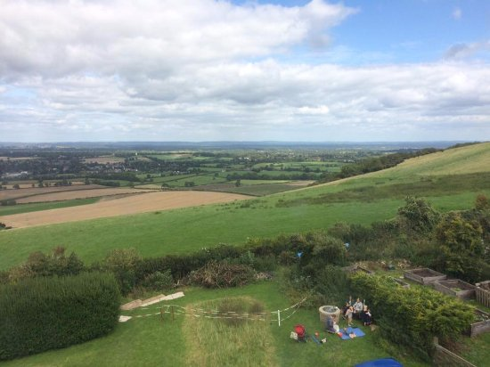 Hassocks, UK: The view from the top of the Windmill