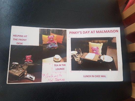 Malmaison London: Pink's day in Mal London