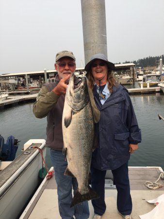 "Anacortes, WA: King Salmon 25 lbs and 37.5"" long"