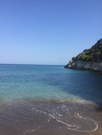 Demre (Kale), ตุรกี: Taşdibi plajının tek taşsız alanı