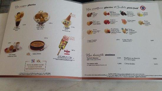 Vimoutiers, France: carte des desserts à la carte