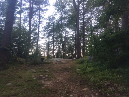 Fahnestock State Park: up the hill to the loo (you can choose to drive if you want)