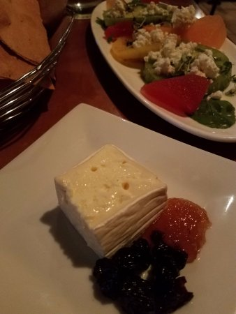 Food Dance: Triple Cream cheese and the Heirloom Tomato, Compressed Watermelon and Feta salad