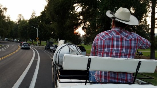 Cowboy Carriage: A lovely ride along Drake Park and the Deschutes River