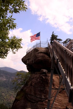 Chimney Rock State Park - the last few steps