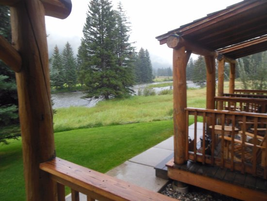 Gallatin Gateway, MT: View From Porch of Our Room