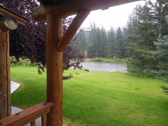 Gallatin Gateway, MT : View From Porch of Our Room