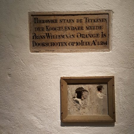 Museum Prinsenhof Delft: He really was shot.