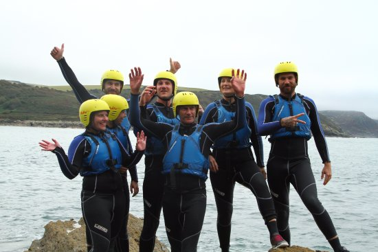 Salcombe Coasteering with Adventure South, Family fun.