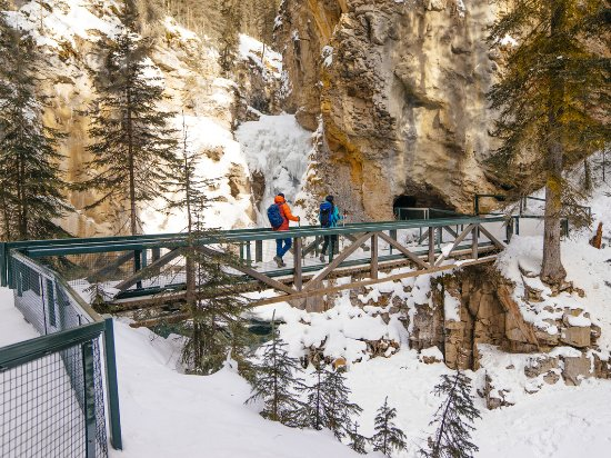 Alberta, Canada: Banff National Park's Johnston Canyon is awesome in summer. In winter? Next level.