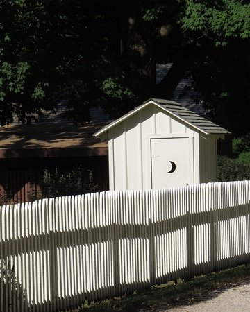 West Branch, IA: Outhouse of hme