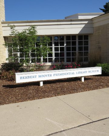 West Branch, IA: Entrance to Herbert Hoover Library and Museum