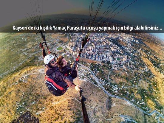 Kayseri'de İki kişilik Yamaç Paraşütü Uçuşu yapmak için bilgi alabilirsiniz...