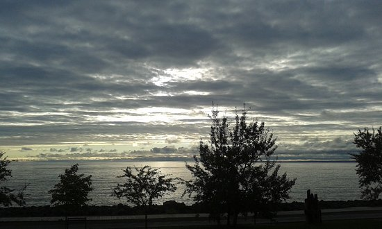 The Inn on Lake Superior: Last morning's sunrise from Balcony