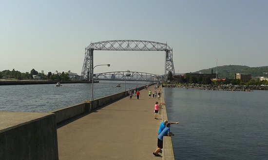 Aerial Bridge from its pier (adjacent to the Inn on Lake Superior)