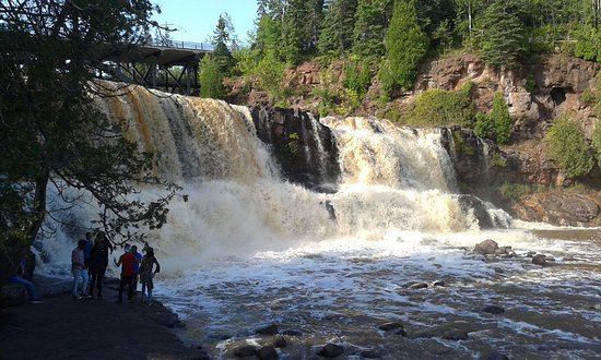 The Inn On Lake Superior: Gooseberry Falls (about 40 miles up the North Shore of Lake Superior) -- beautiful, free park