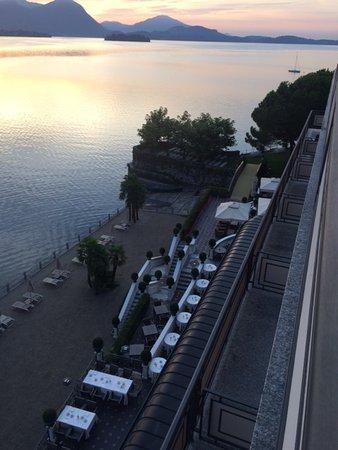 Hotel Splendid: la spiaggia e la terrazza del ristorante viste dalla mia camera