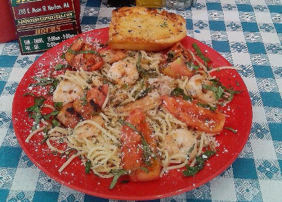 Norton, Μασαχουσέτη: Our Shrimp & Crabmeat Scampi!