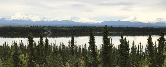 Wrangell-St Elias National Park and Preserve, อลาสกา: All four mountains of the range were visible from Copper Center