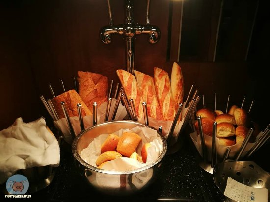 Dine: The bread station. They have a lot of choices to choose from. It is nice to pair with their chee