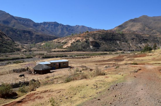 Clarens, South Africa: A cafe/Shebeen in Lesotho, near Butha Buthe