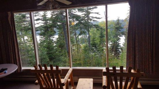Rock Harbor Lodge: View from cabin #210 overlooking Tobin Harbor