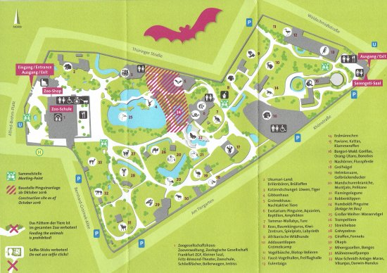 A map with animals Picture of Frankfurt Zoo Zoologischer Garten