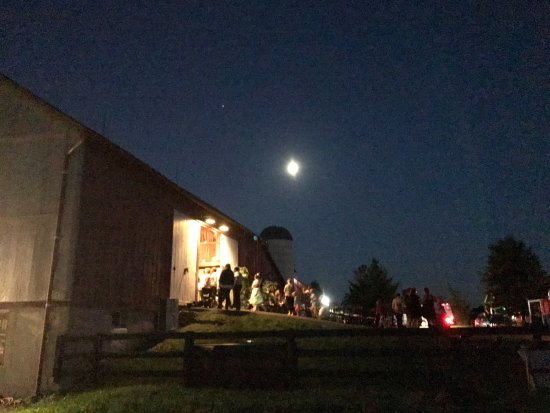 Faith Like A Mustard Seed Farm Full Moon And The Barn Entrance