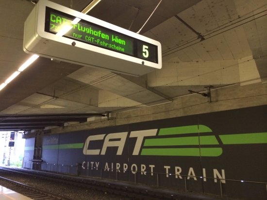 Cat Platform At Wien Mitte Picture Of City Airport Train Cat