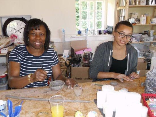 Dwyran, UK: Making clay models