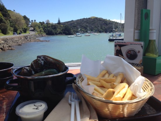 Mangonui, New Zealand: NZ mussels