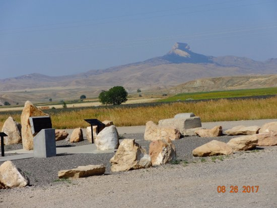 Powell, WY: Heart Mountain as seen from memorial area