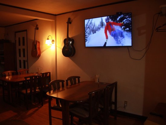 Bar area and TV