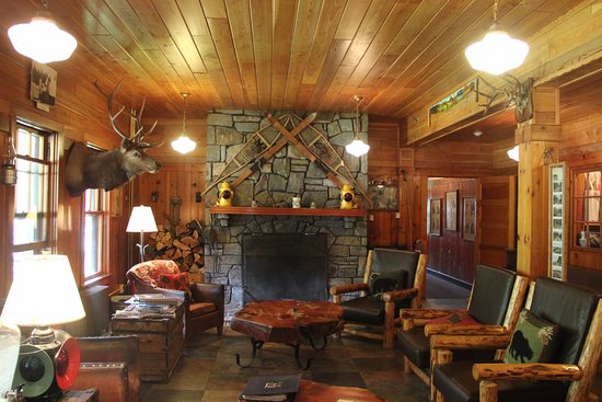 Essex, MT: Sitting area of the main floor of the Inn