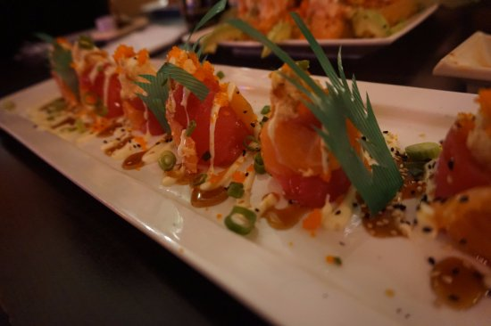 Wasabi House: Paris Roll (Ball of Rice w/ Salmon and Tuna Wrapped Around and Topped w/ Lobster)