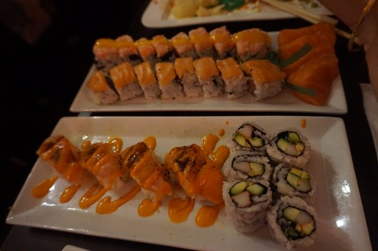 Wasabi House: Complimentary Rolls and Sashimi (FREE & brought out to us half way through meal!!! AMAZING!)