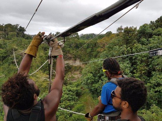 Vanuatu Jungle Zipline: 3 of the guides :)