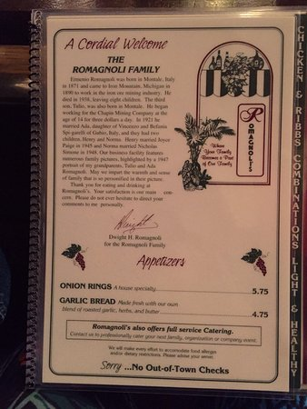 Iron Mountain Mi Italian Restaurants