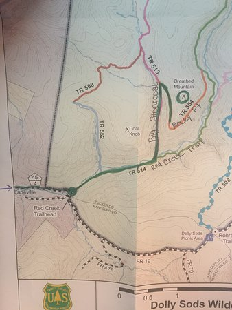 map of route we took - Picture of Dolly Sods Wilderness Area, Elkins ...