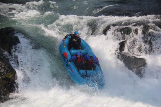 White Salmon, WA: Going down the Husum falls - photo credit to Zoller's Outdoor Odysseys