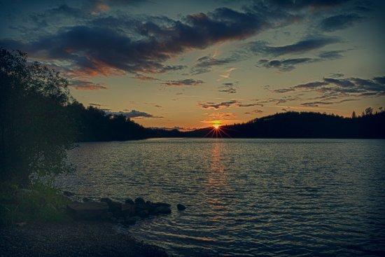 Sunset at Loon Lake Lodge
