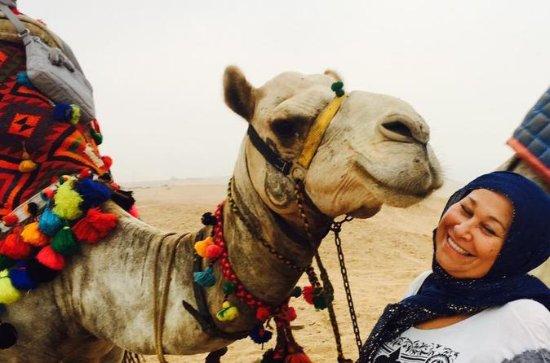 5 hours Giza pyramids camel ride...