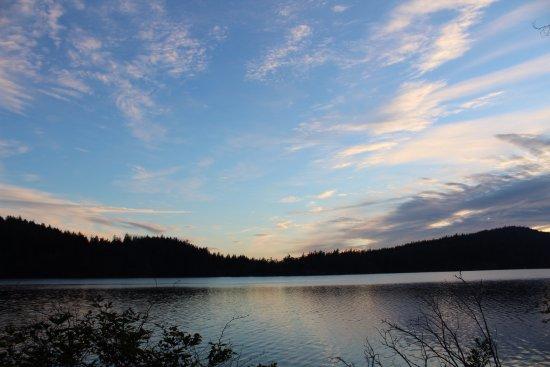 Olga, WA: Sunset at Cascade Lake
